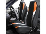 Highback Car Seat Covers Front Bucket Pair for Auto Truck SUV Orange