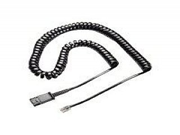 Plantronics Coil Cord to quick disconnect Modular Plug (38340-01)