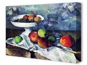 Compotier Glass and Apples by Paul Cezanne Canvas Art Print