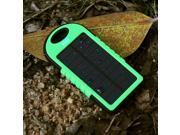 Green 5000mAh Dual-USB Port Waterproof Shockproof Dustproof Solar Power Bank Battery Charger Backup for Samsung Galaxy S5 S4 S3 Note 2 3 4 HTC One M8 M7 LG G2 G3 Moto X Sony Nokia Blackberry etc.