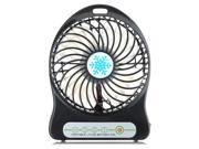 VicTsing 3 Speed Adjustable USB Mini Desktop Fan Battery Operated with 3.7V 18650 Lithium Battery Portable Fan PC Laptop Mac USB Cooler Cooling Fan Table For Office Home and Travel