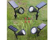 [Upgraded 200 Lumens] VicTsing LED Solar Spotlight / Solar Powered Outdoor Wall Light - Waterproof 4 LED Solar Outdoor Lighting, Spotlights, Security Lighting, Path Lights, In-ground Lights, Landscape