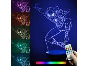LED 3D Illuminated Lamp Abstraction Optical Illusion Desk Night Light with Remote Controller - Spider-Man 9SIA1ZZ64U3550