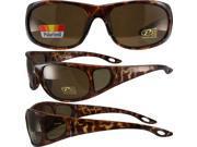 Pacific Coast Sunglasses Strike Sunglasses Tortoise Frames Polarized Brown Lenses 9SIA2073TA1217