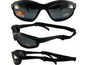 Pacific Coast Sunglasses Freedom Padded Sunglasses Matte Black Frames POLARIZED Smoke Lenses They Float!!! 9SIA2073TU0502