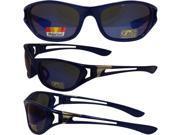 Pacific Coast Sunglasses Blue Ice Sunglasses Blue Frames Chrome Metal Accents Blue Mirror Polarized Lenses 9SIA2073VB5247