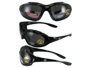 Birdz Thrasher Glasses-to-Goggles Convertible Motorcycle Goggles with Smoke Shatterproof Anti-Fog Polycarbonate Lenses and Wind Blocking Foam