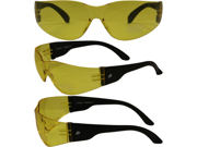 Birdz Pigeon Shop Glasses with Black Frame and Yellow Lenses