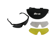 Birdz Feather 2 Sleek Riding Goggles with Three Lens Colors (Clear, Smoke, Yellow)