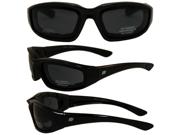 Birdz Oriole Motorcycle Glasses with Smoke Shatterproof Anti-Fog Polycarbonate Lenses and Wind Blocking Foam
