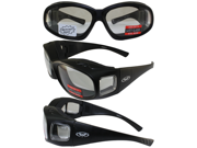 Sunglasses that Fit Over Prescription Glasses with Removable Neoprene Foam Matte Black Frame and Clear Lenses