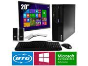 IBM Thinkcentre M58 PC Win 8 Pro Desktop Core 2 Duo 3.0GHz 8GB 160GB 20 LCD HD