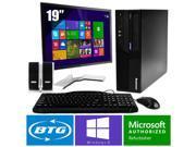 IBM Thinkcentre M58 PC Win 8 Pro Desktop Core 2 Duo 2.9GHz 8GB 160GB 19 LCD HD