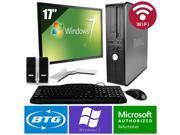 """Dell Optiplex 780 PC Win 7 Desktop Core 2 Duo 2.9GHz 4GB 160GB Wifi 17"""" LCD HD"""