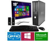 "Dell Optiplex 780 Win 8 Pro Desktop Core 2 Duo 2.9GHz 8GB 120GB SSD 19"" HD LCD"