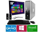 HP Compaq 7800 PC Win 8.1 Pro Desktop Core 2 Duo 2.1GHz 8GB 120GB SSD 19 LCD HD