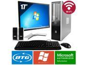 HP Compaq 7900 PC Win 7 Desktop Core 2 Duo 2.6GHz 4GB 120GB SSD Wifi 17 LCD HD