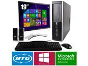 HP Compaq 8000 PC Windows 8.1 Pro Desktop Core 2 Duo 3.0GHz 8GB 250GB 19 LCD HD