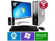 HP Compaq 7900 PC Win 7 Desktop Core 2 Duo 2.6GHz 4GB 500GB Wifi 17 LCD HD