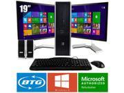 HP Compaq 7900 PC Win 8 Pro Desktop Core 2 Duo 2.6GHz 8GB 160GB Dual 19 LCD HD