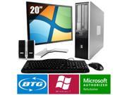 HP Compaq 7900 PC Windows 7 Pro Desktop Core 2 Duo 2.6GHz 8GB 250GB 20 LCD HD