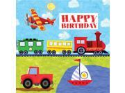 On The Go Happy Birthday Lunch Napkins (16) - Multi-colored