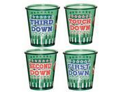 Football Shot Glass Set - Plastic
