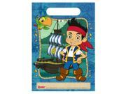 Disney Jake And The Never Land Pirates Treat Bags (8) - Blue