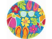 Summer Splash Luau Banquet Dinner Plates (18) 9SIA0BS2X80862