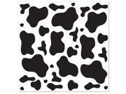 Cow Print Bandana - Black & White