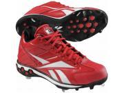 Reebok High N Tight II Mid Hex Men's Baseball Cleats in Red/White - 14