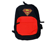 Superman Men's Front Pocket Backpack with Distressed Screen Print