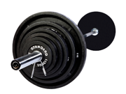 USA Sports 300 lb. Olympic Weight Set with Black Bar