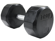 Troy 30lb Individual 12-Sided Rubber Encased Dumbbell