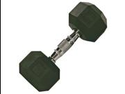 VTX 90lb Individual Rubber Encased Octagonal dumbbell
