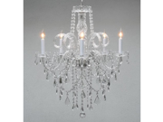 """Authentic All Crystal Chandelier Chandeliers H30"""" X W24"""""""