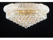 "FLUSH EMPIRE CRYSTAL CHANDELIER CHANDELIERS LIGHTING H15""XW24"""