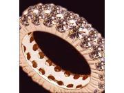 3.22 carat Champagne diamonds eternity band Diamond pink gold new