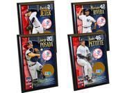 New York Yankees Core 4 Ultimate Fan Gift Set – Derek Jeter, Mariano Rivera, Jorge Posada, Andy Pettitte Certified Authentic Field Dirt Plaques