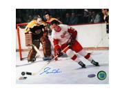 Gordie Howe Against Boston Bruins Signed 8x10 Photo
