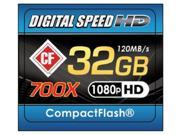 Digital Speed 32GB 700X Professional High Speed 120MB s Error Free CF Memor...