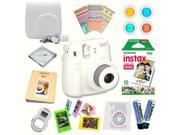 Fujifilm Instax Mini 8 (White) Deluxe kit bundle Includes: - Instant camera with Instax mini 8 instant films (10 pack) - Custom Camera Case - instax Photo Album