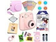 Fujifilm Instax Mini 8 Pink Deluxe kit bundle Includes Instant camera with Instax mini 8 instant films 10 pack Air Mail Custom Camera Case instax Pho
