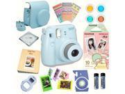 Fujifilm Instax Mini 8 Blue bundle: Instant camera + Instant Little Twin Stars  Film + Accessories