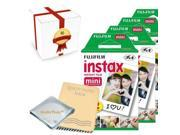 Fujifilm INSTAX Mini Instant Film 8 Pack (80 Films) - Photo Album - Gift Packaging