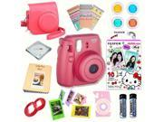 Fujifilm Instax Mini 8 Raspberry bundle: Instant camera + Instant Hello Kitty 2016  Film + Accessories