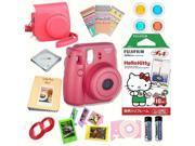 Fujifilm Instax Mini 8 Raspberry bundle: Instant camera + Instant Hello Kitty  Film + Accessories