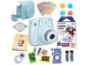 Fujifilm Instax Mini 8 Blue bundle: Instant camera + Instant Air Mail  Film + Accessories