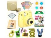 Fujifilm Instax Mini 8 (Yellow) Deluxe kit bundle Includes: - Instant camera with Instax mini 8 instant films (10 pack) - Custom Camera Case - instax Photo Albu