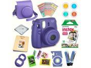 Fujifilm Instax Mini 8 (Grape) Deluxe kit bundle Includes: - Instant camera with Instax mini 8 instant films (10 pack) - Custom Camera Case - instax Photo Album